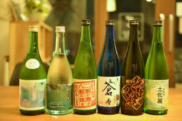 司牡丹の6種の日本酒